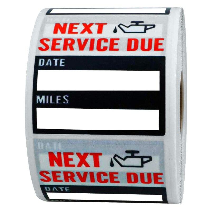 pratico-100-pz-rotolo-2-pollici-quadrato-cambio-olio-manutenzione-servizio-promemoria-adesivo-servizio-successivo-due-etichetta-adesiva-per-vetri-auto