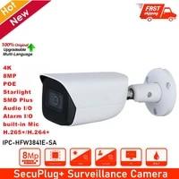 original ipc hfw3841e sa 8mp ir30m built in mic sd card slot ip67 smd plus wizsense bullet camera replace ipc hfw1831e ip cam