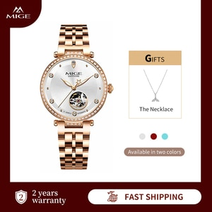 Mige Luxury Watches for Women Automatic Mechanical Lady Watch Stianless Steel Waterproof  Sapphire Crystal Fashion Classic Gifts