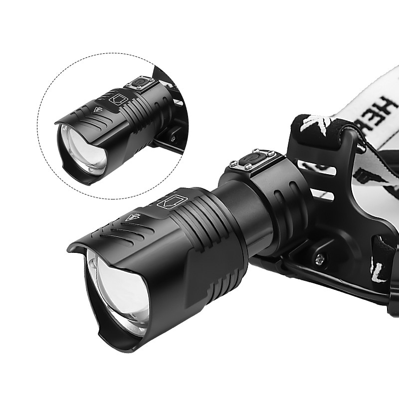 Zoom Shot Headlamp Powerful Climbing Hunting Hiking Fishing Headlamp Waterproof Led Linterna De Cabeza Outdoor Lighting DE50TD enlarge