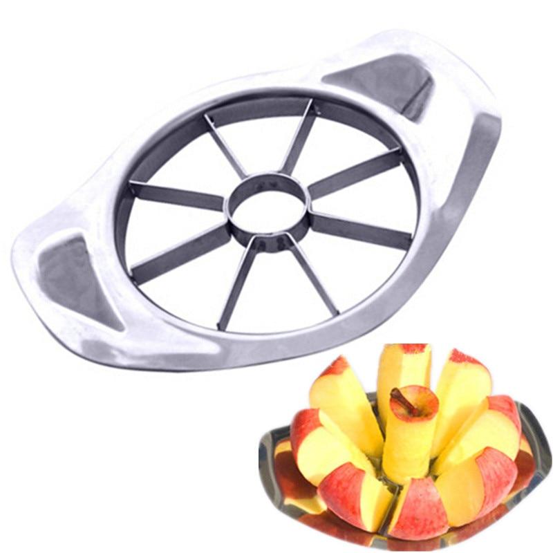 الفولاذ المقاوم للصدأ آلة تفريغ بذور ثمار التفاح القطاعة الفاكهة الخضار أدوات أداة تقطيع التفاح مقسم الفاكهة تقطيع تقشير اكسسوارات المطبخ