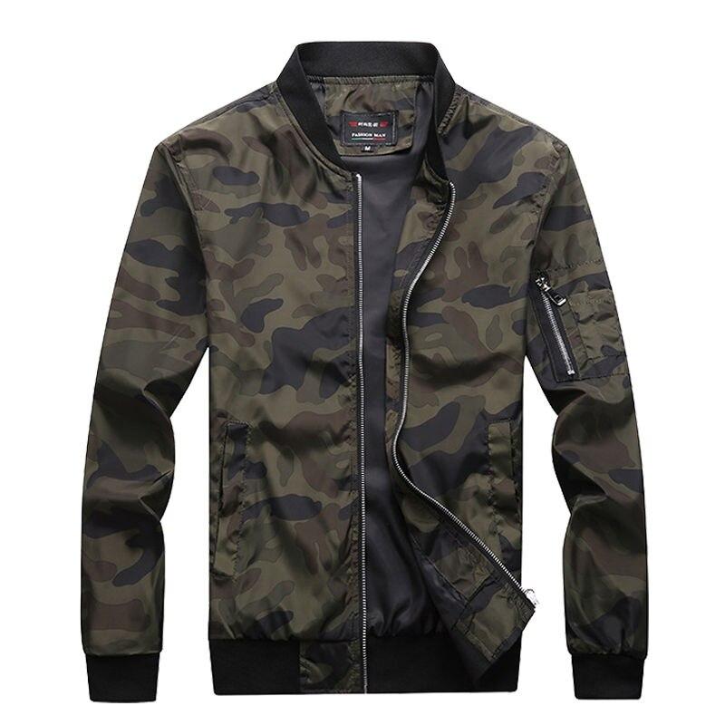 M-7XL 2020 Новая Осенняя мужская камуфлированная куртка мужской пальто камуфляжной расцветки, куртка-бомбер, Мужская брендовая одежда верхняя ...