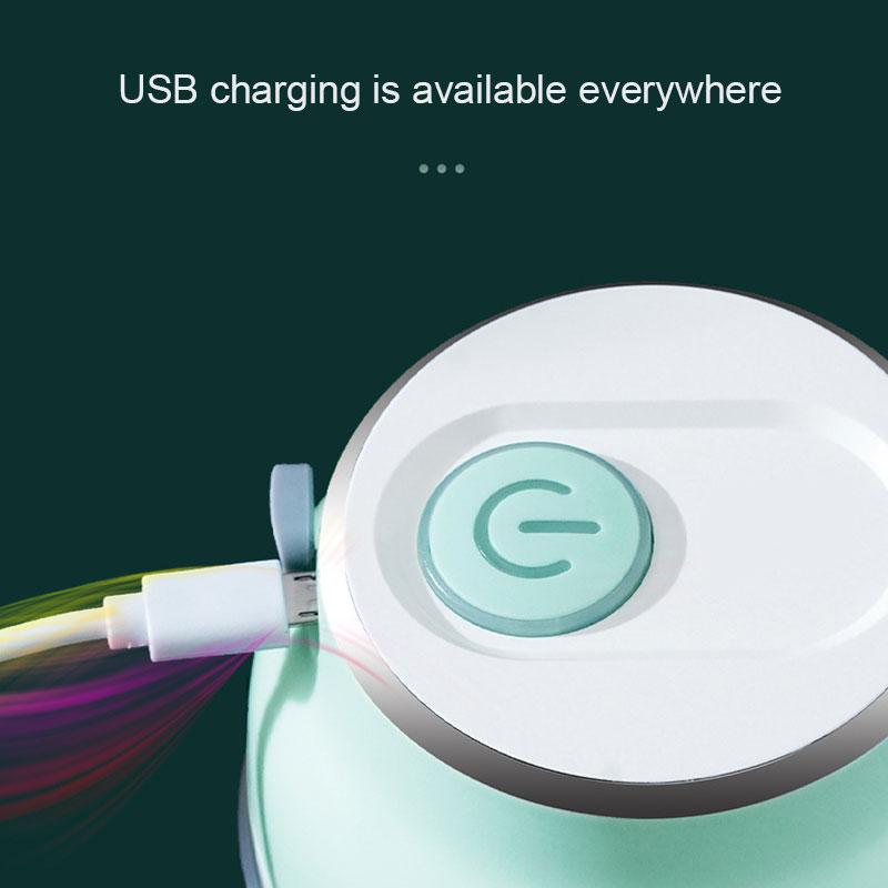 قطاعة الخضروات الكهربائية الصغيرة الثوم الغذاء المفرمة USB قابلة للشحن للمنزل في الأوراق المالية