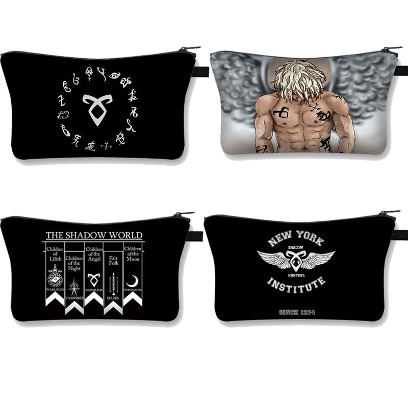 Shadowhunters / Supernatural Cosmetic Cases Women Makeup Bag Ladies Make Up Organizer Pouch Neceser Beauty Cosmetics Bag Case
