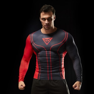 Men's Running T-Shirts Quick Dry Compression Sport T shirt Fitness Long Sleeves Gym Jogging Shirts Workout Traning Muscle Tight