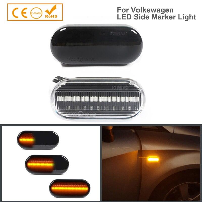 2pc Dynamische Led Blinker Seite marker licht Lampe für SEAT Ibiza VW Volkswagen Bora Golf 3/4 Passat 3B polo 6N Sharan Vento T5