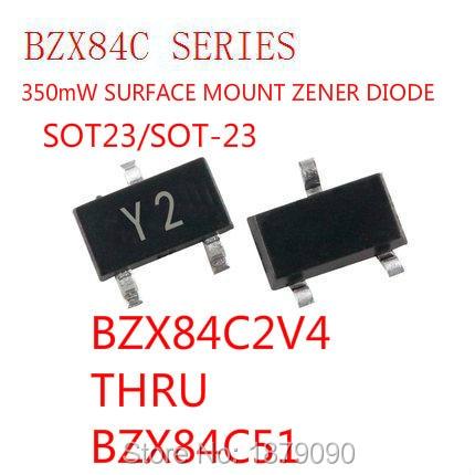 Muestra BZX84C7V5 BZX84-C7V5 350mW/410mW 7,5 V 7V5 marca WD/Z6 diodo Zener SOT23/SOT-23 3000 uds/carrete nuevo Original
