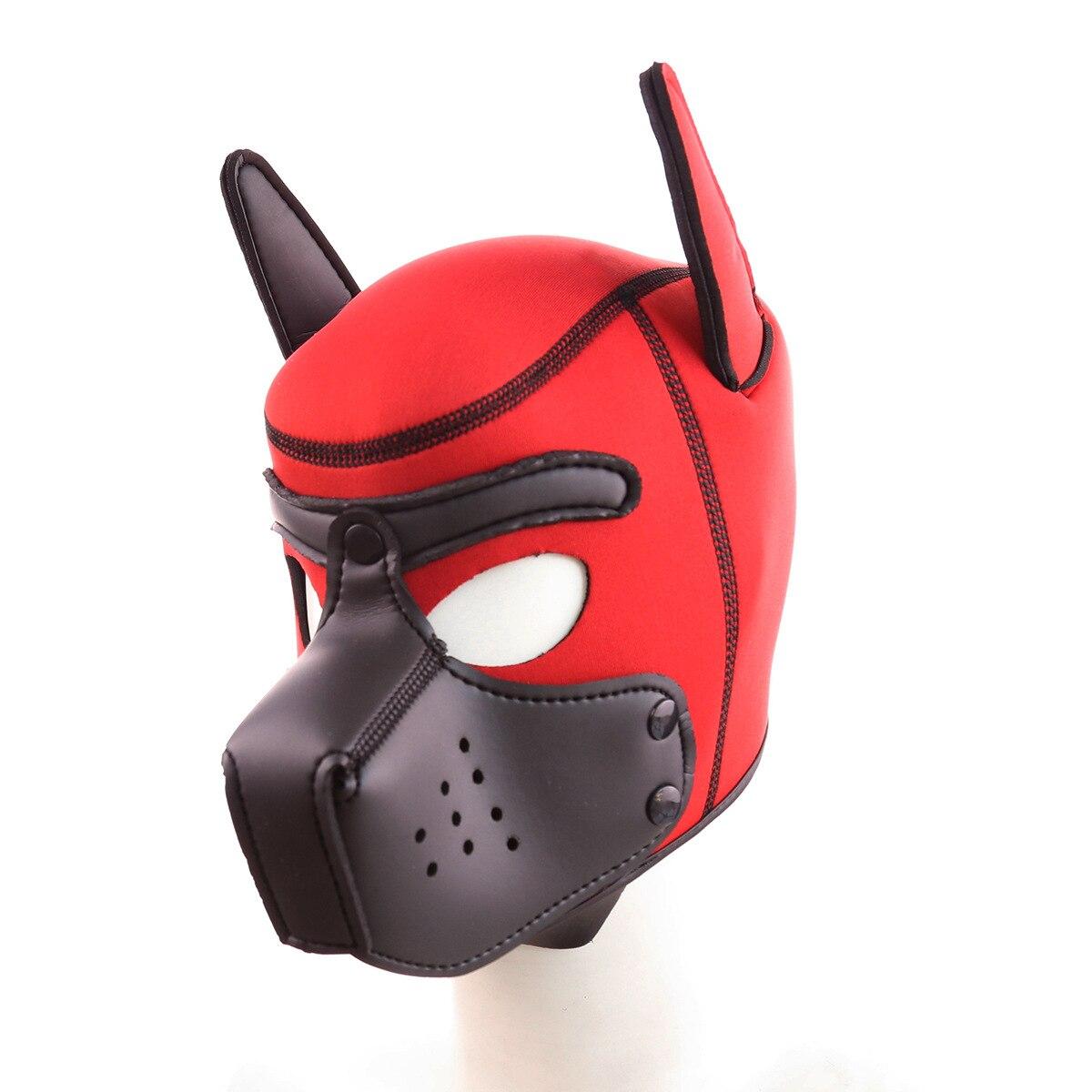 الرجال والنساء متعة القبعات الكبار ألعاب المطاط الإسفنج نمط جديد للإزالة الفم الكلب القبعات شامل الوجه قناع تأثيري