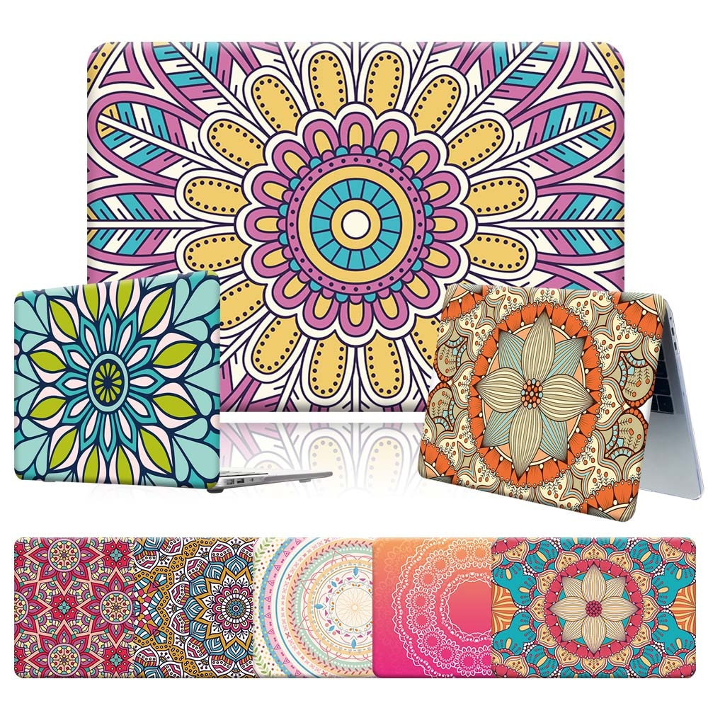 New Shock-proof PVC Hard Shell Laptop Case Fit Apple Macbook Air 11 13 Inch/Pro 13 15 16 Inch Laptop Case with Mandala Series