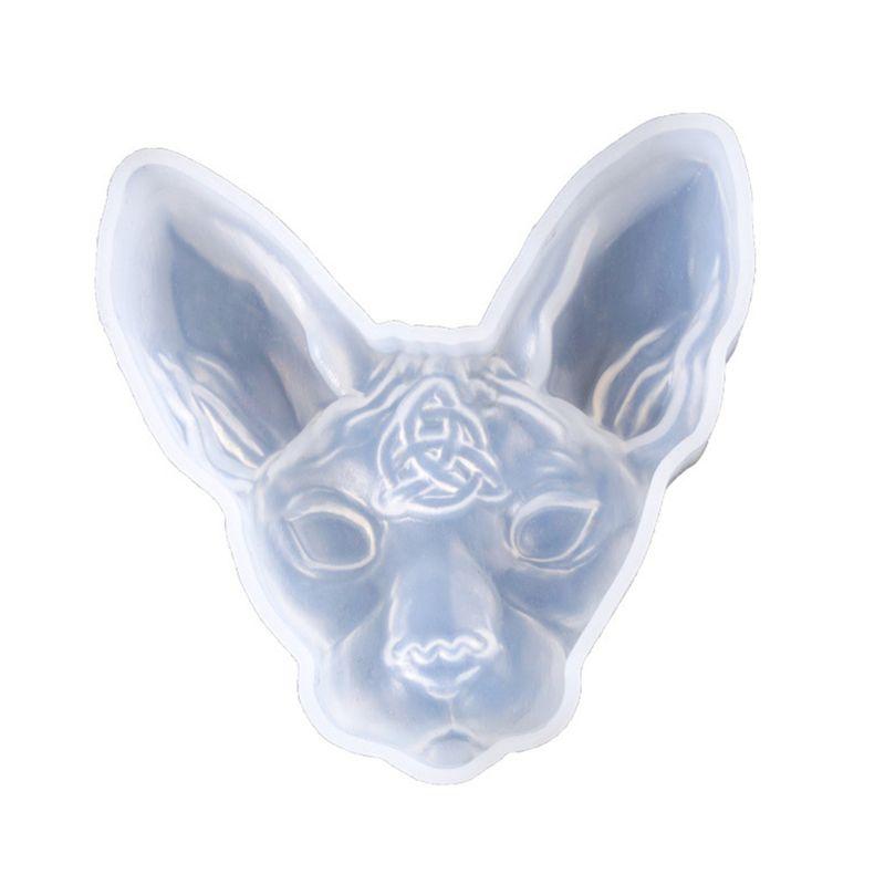 3D dibujo gato silicona resina epoxi UV pegamento molde creativo artesanía DIY colgante joyería broche hacer accesorio herramienta