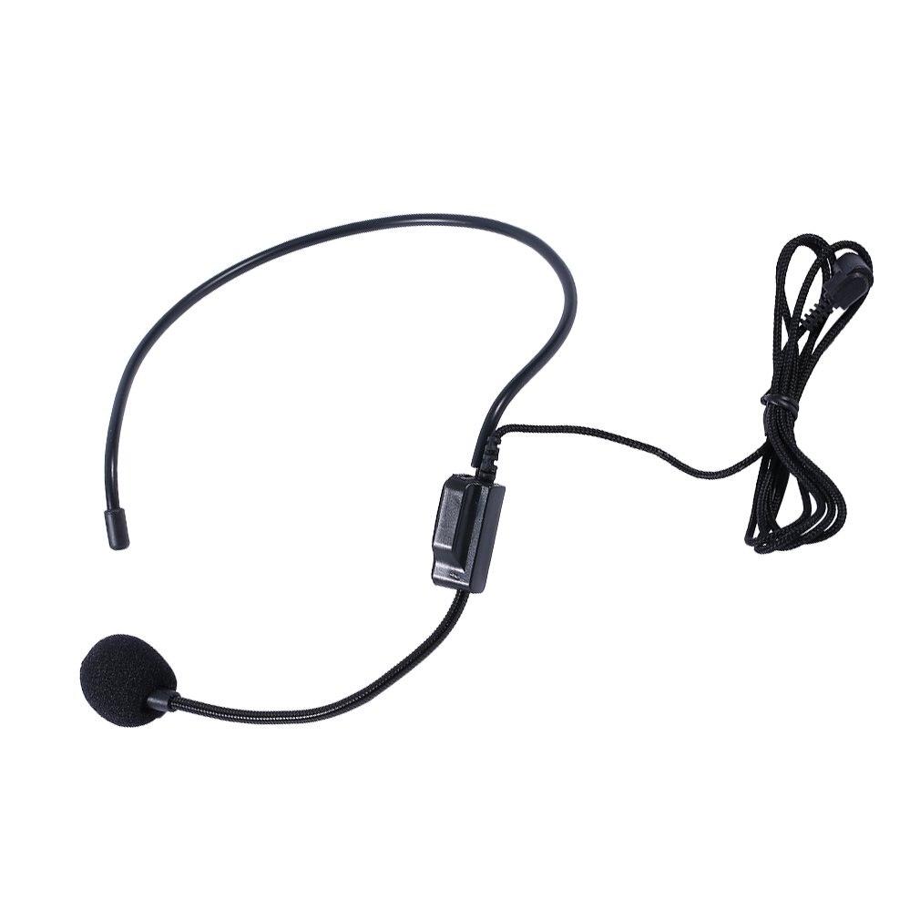 Auriculares con micrófono con cable microfono profesional para amplificador de voz con...