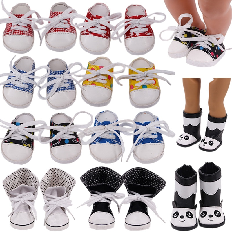 7Cm Doll Shoes Canvas Slipper Boots For 18 Inch American Of Girl`s&43Cm Baby New Born Reborn Doll Zaps Our Generation Girl`s Toy недорого