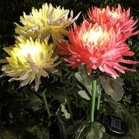 chrysanthemum solar light led outdoor solar lamp garden simulation flower lawn light plug in garden land lamp light garden decor