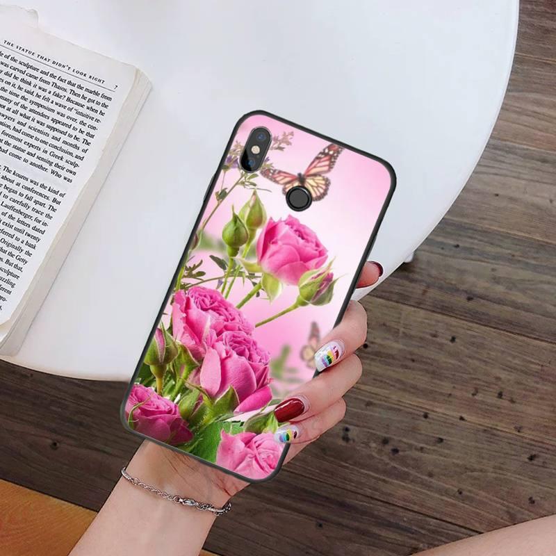 Sakura Aesthetic Art Phone Cases For Xiaomi Redmi 7 9t 9se k20 mi8 max3 lite 9 note 8 9s 10 pro Soft Silicone Shell Cover Funda  - buy with discount