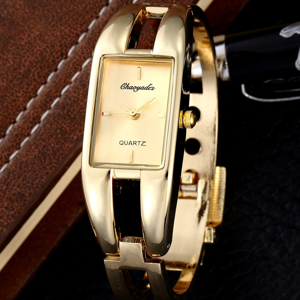 cheap yellow gold plated ladies watch luxury fashion brand stainless steel diamand wrist watch bracelet gifts for women watch Gold Casual Women Watches Luxury Brand Bracelet Elegant Women Quartz Watch Clock Ladies Dress Wrist Watches Stainless Steel Band
