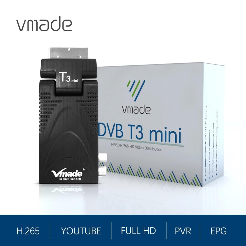 Vmade TV Tuner DVB-T2 H.265 HEVC Full HD Digital Terrestrial TV Receiver DVB T2 Set-Top Box M3U Decoder Youtube Scart TV Box недорого