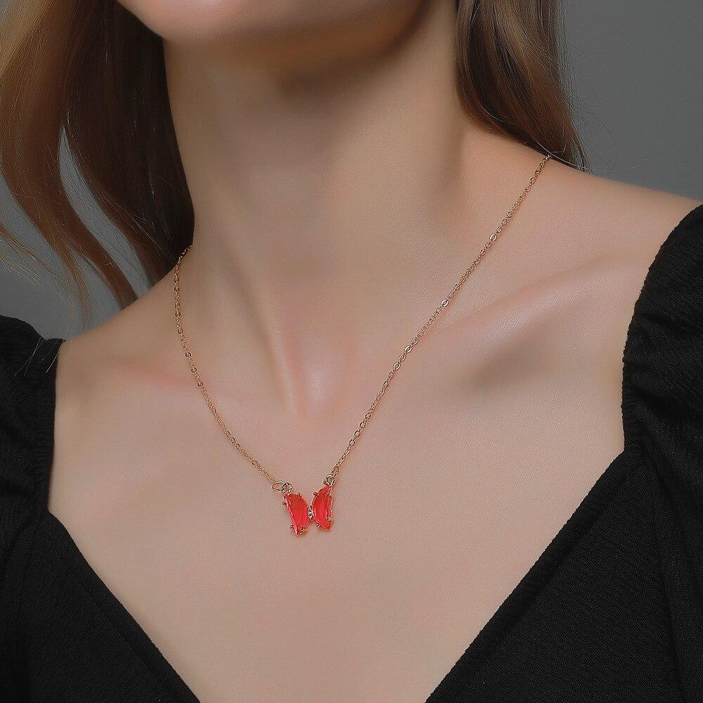 Ожерелье с цепочкой до ключицы в стиле ins