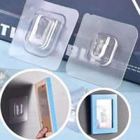 double sided adhesive wall hooks wall hanger strong transparent suction cup sucker hook wall storage holder kitchen bathroom