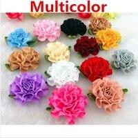 50pcslot color satin ribbon bows flowers carnation appliques sewingcraftwedding