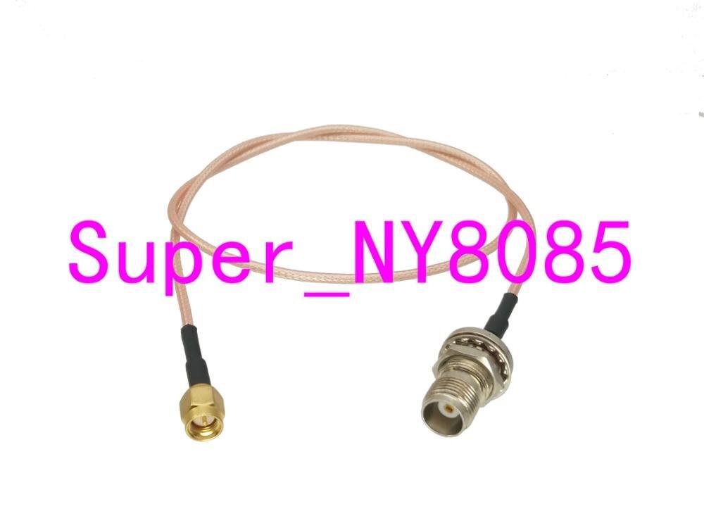 RG316 Cable TNC hembra Jack Bulkhead a SMA macho recto 4 pulgadas ~ 10M