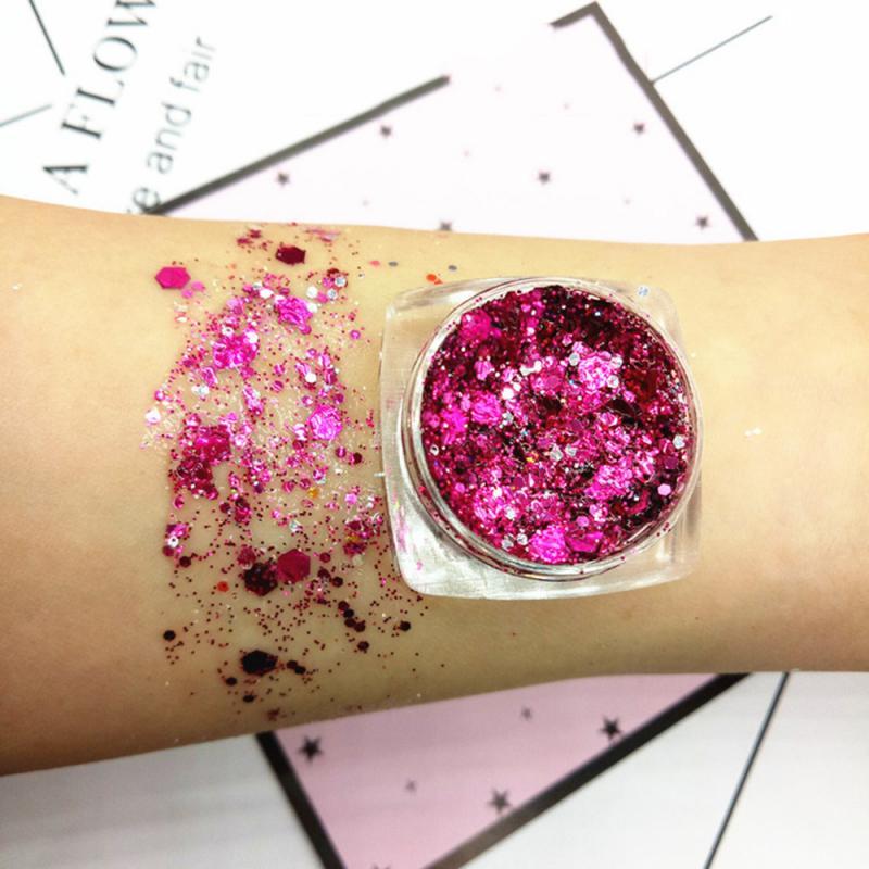 1PC 17 Colors Diamond Glitter Eyeshadow Makeup Nail Art Mermaid Sequins Shimmer Diamond Eye Shiny Se