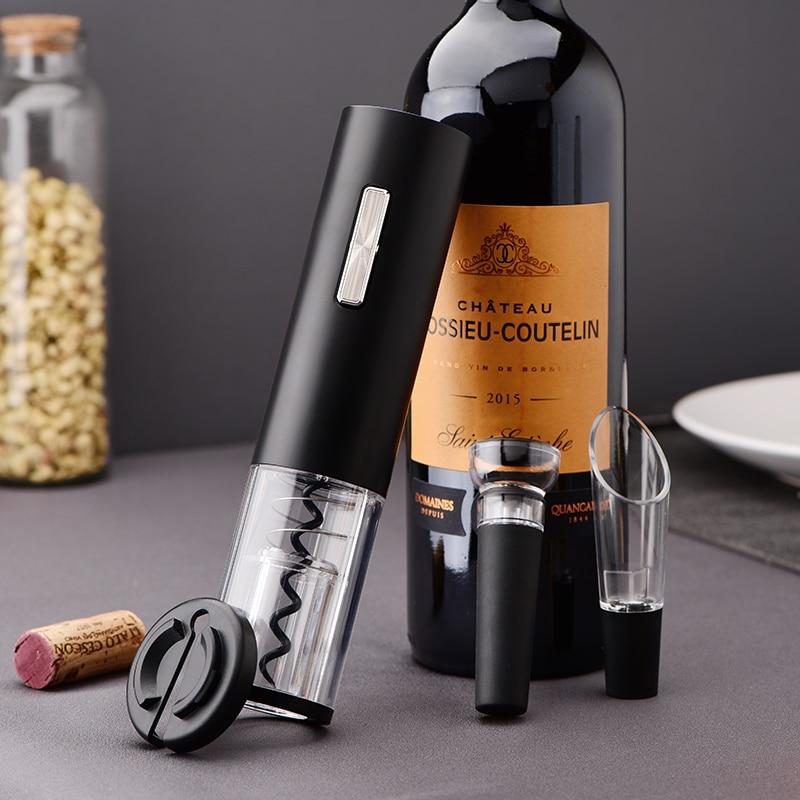 أحدث الكهربائية زجاجة نبيذ فتاحة قابلة للشحن التلقائي النبيذ المفتاح مع احباط القاطع مع USB كابل شحن للاستخدام المنزلي