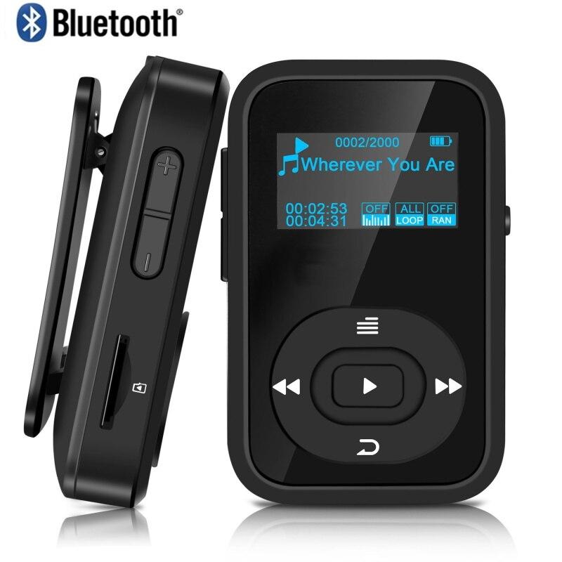 2020 Original MP3 Player Walkman Clip Bluetooth 8GB Sport Lossless Music Player Recorder FM Radio Support TF Card