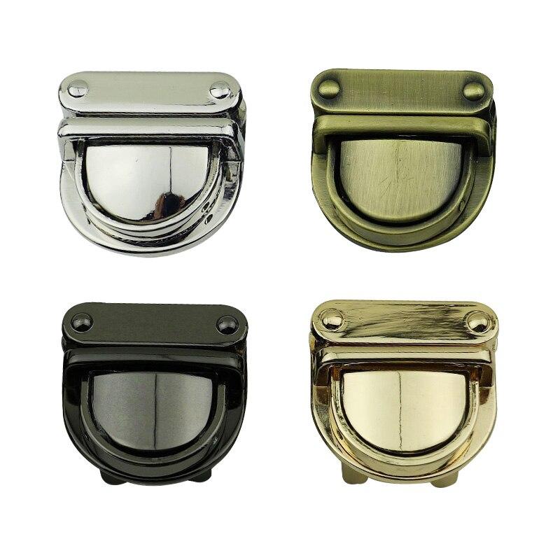 1 шт. практичная металлическая застежка, поворотный замок, поворотный замок, сделай сам, аксессуары для сумок ручной работы, кошелька, фурнитура, застежка