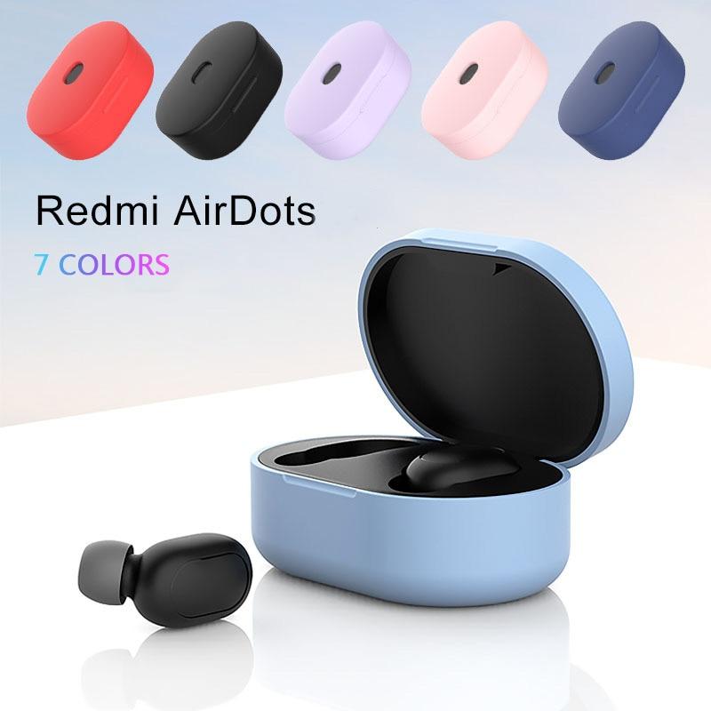 Funda de silicona para Xiaomi Redmi Airdots, auriculares inalámbricos con tecnología TWS y Bluetooth
