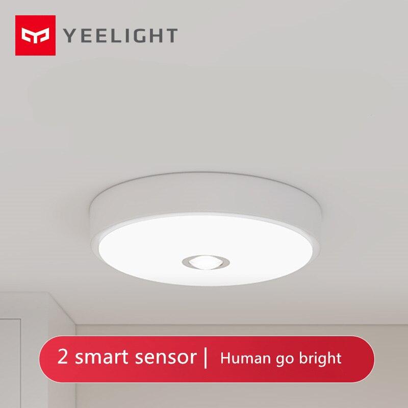 Yeelight mijia-مصباح سقف Led صغير ، مستشعر حركة جسم الإنسان ، كريستال ، ضوء ليلي ذكي