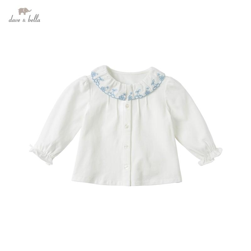 DBJ16494 1 нижнее белье в стиле бренда dave bella/Весенняя мода для маленьких девочек, цветочные рубашки с вышивкой для малышей; Топы для детей ясельного возраста; Детская одежда высокого качества|Блузки и рубашки| | АлиЭкспресс