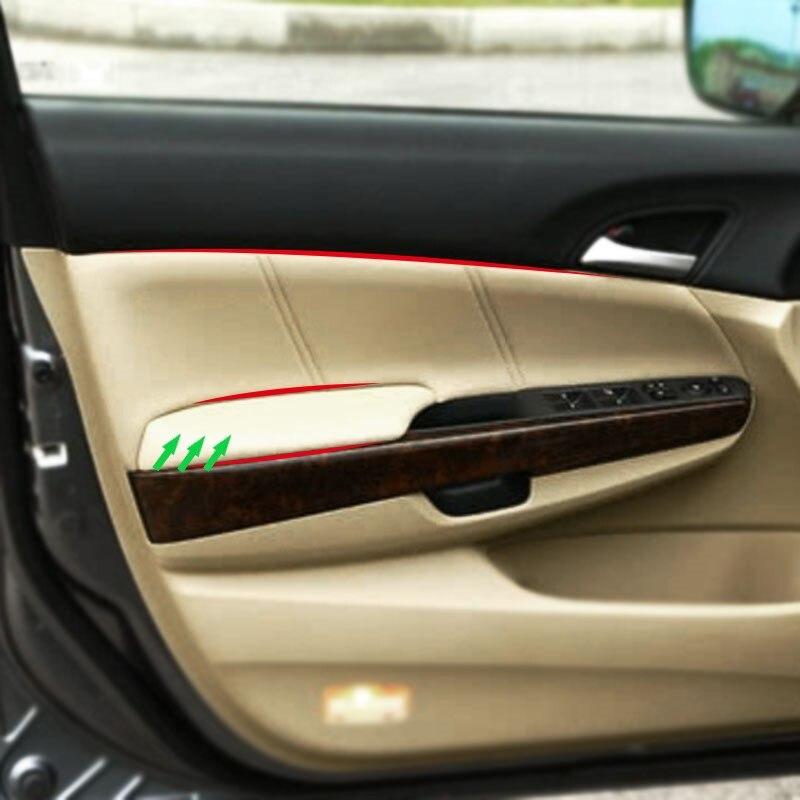 2 uds microfibra cuero manija de la puerta del coche apoyabrazos Panel cubierta para Honda Accord 8 generación 2008 2009 2010 2011 2012 Sedán