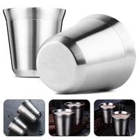 80ml160ml double wall stainless steel coffee mug portable cup durable travel tumbler coffee jug milk tea cups office water mugs
