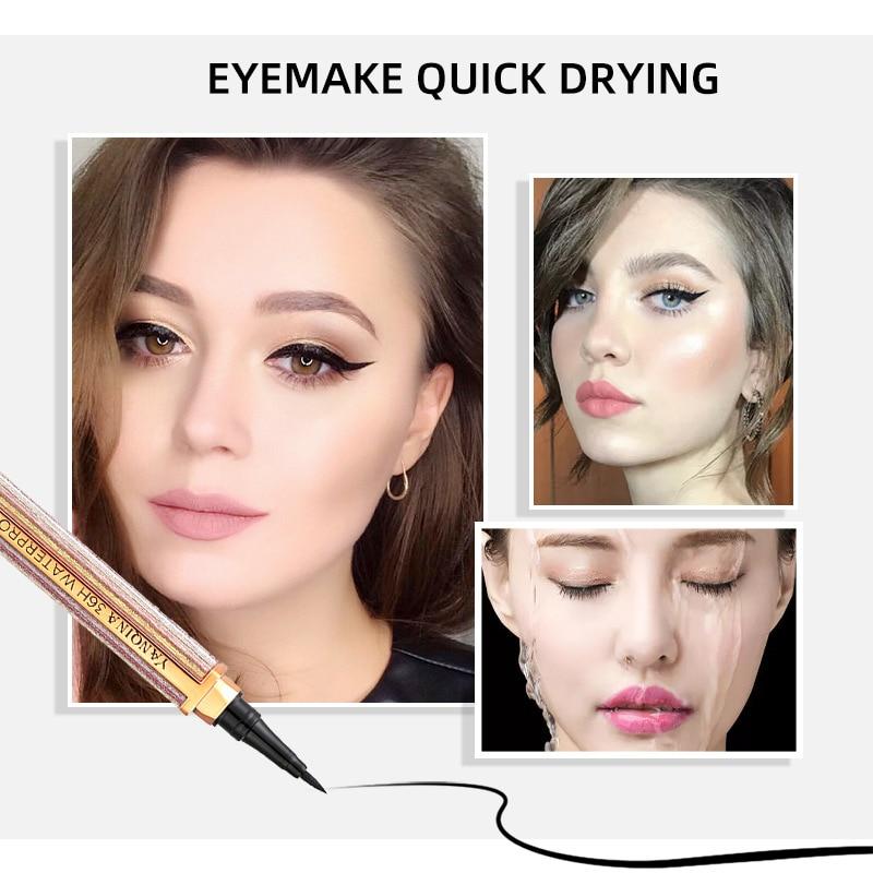 Lápis delineador líquido de longa duração céu estrelado olho forro caneta à prova dwaterproof água suave olho cosméticos ferramentas mh88