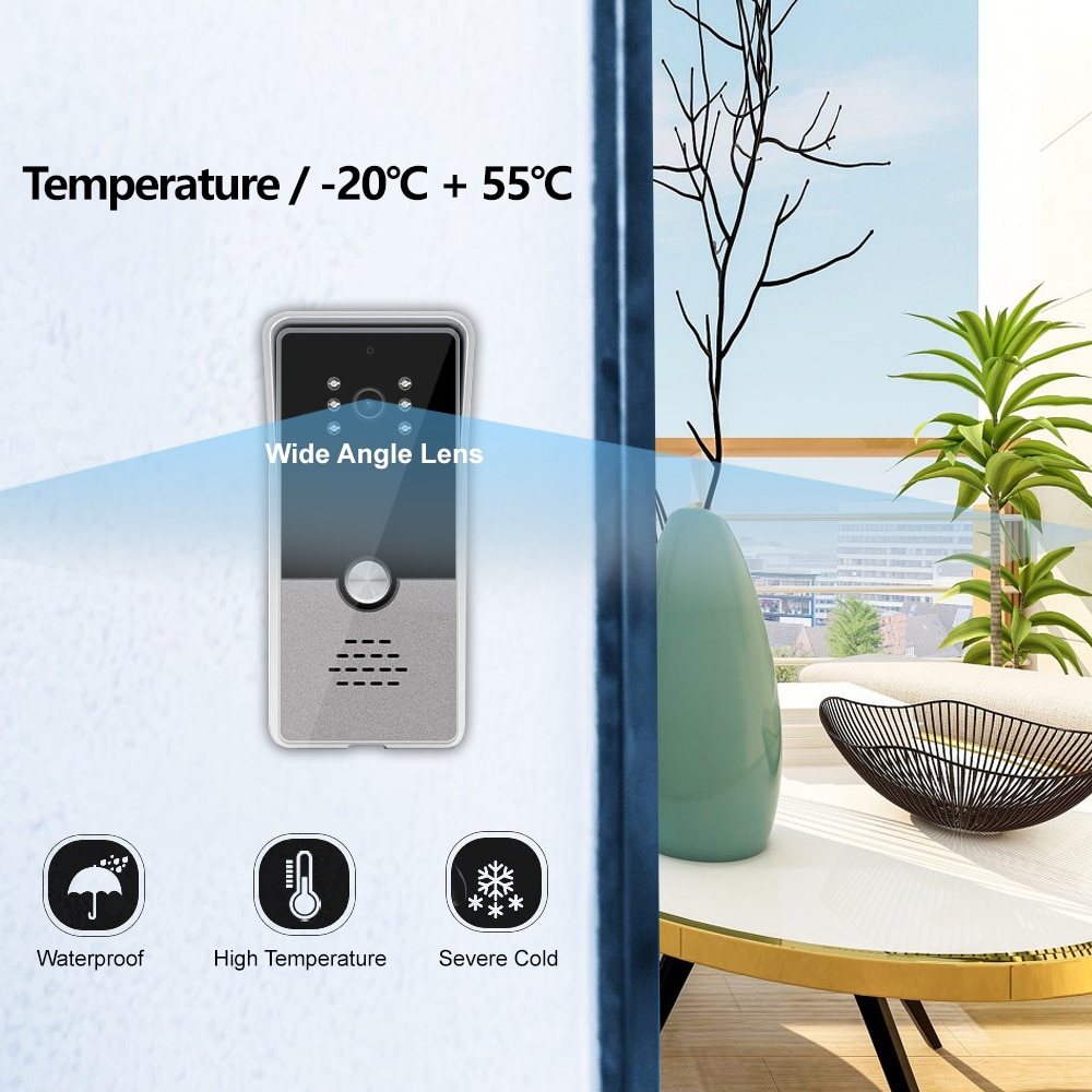 Cloud Storage Video Doorbell Wifi Street Intercom for Home With Night Vision Function Motion Detection Door Intercom System enlarge