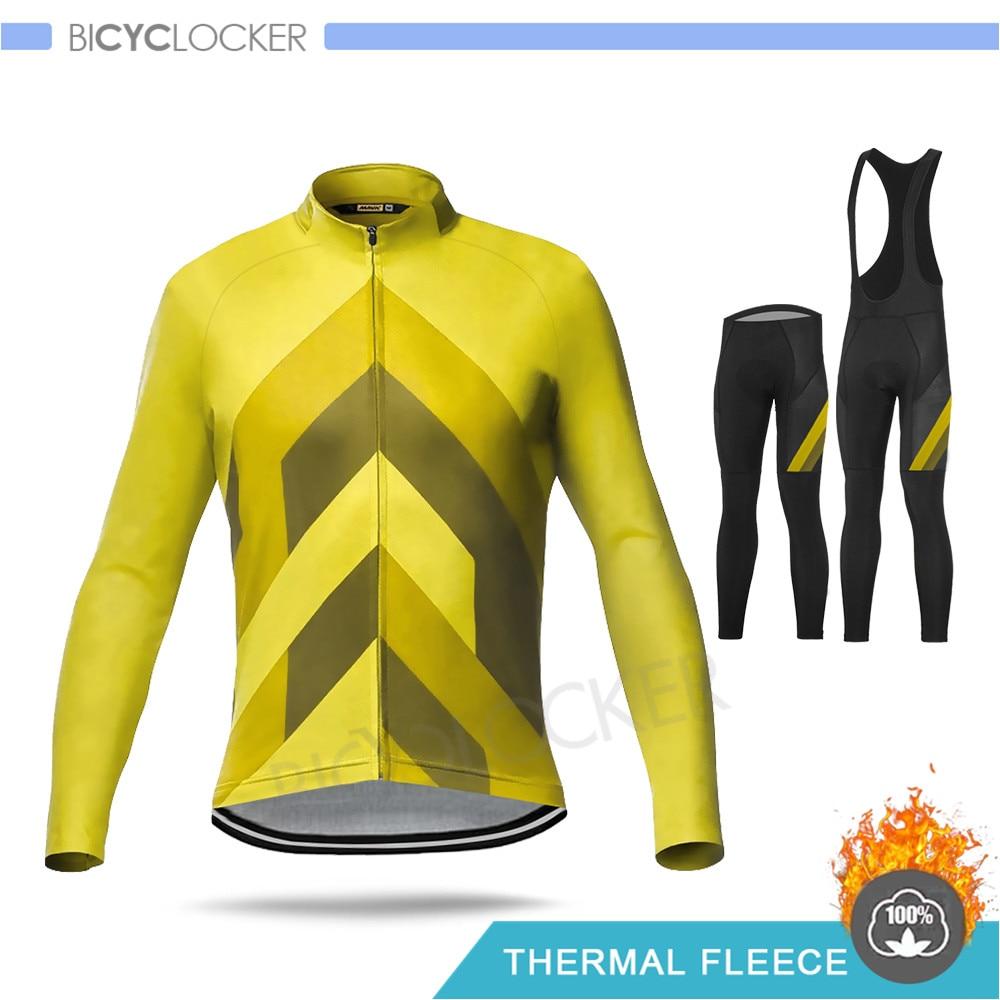 Mavic, ropa de Ciclismo de Invierno, conjunto de Jersey de manga larga, forro polar térmico Pro, equipo caliente Mtb Mallot Ciclismo Hombre Invierno 2020