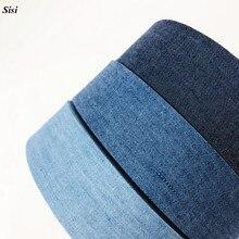 "11Yards Sisi Layering Cowboy Jeans Fabric Tape 3/8"" 1"" 1-1/2"" Solid Denim Ribbon Bias Trim DIY Hair Bow Chocker Craft Material"