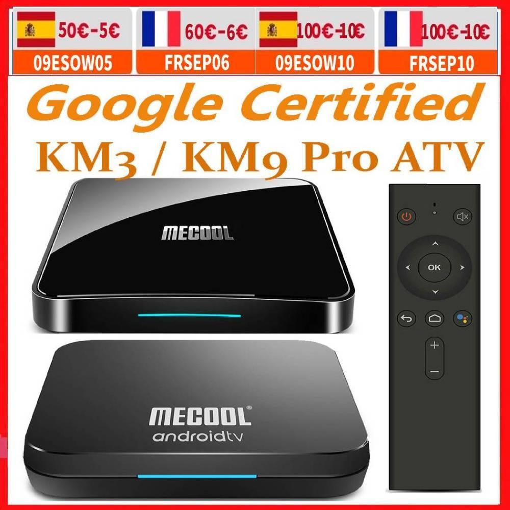 Mecool Androidtv 10.0 KM3 ATV Box Google Certified S905X2 4K Media Player 2.4G/5G WiFi KM9 Pro Android 10 Smart Set Top Box