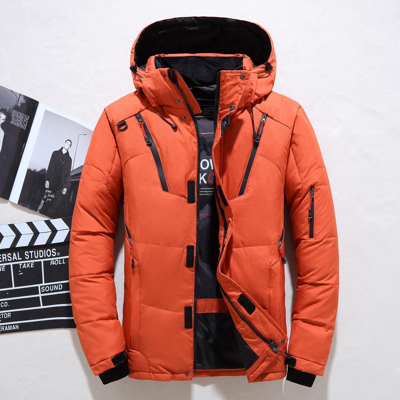 Invierno abajo chaqueta senderismo chaqueta conjunto para hombre corta cremallera Color grueso...