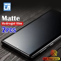 2pcs full curved matte hydrogel film for samsung galaxy s21 s20 ultra s10 s9 s8 note 20 10 9 8 plus s10e s20 fe screen protector