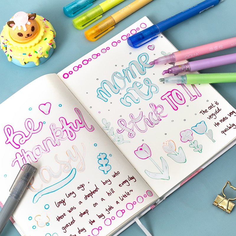 8 шт./компл. милый рисунок двойная линия контурная ручка маркер, фломастер 8 цветов для школы цветные ручки Канцтовары офисная школа