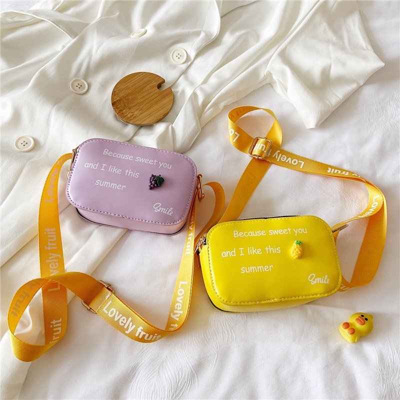 Baby Children's Mini Crossbody Bags Fashion PU Leather Boys Girls Small Coin Purse Handbags Cute Pri
