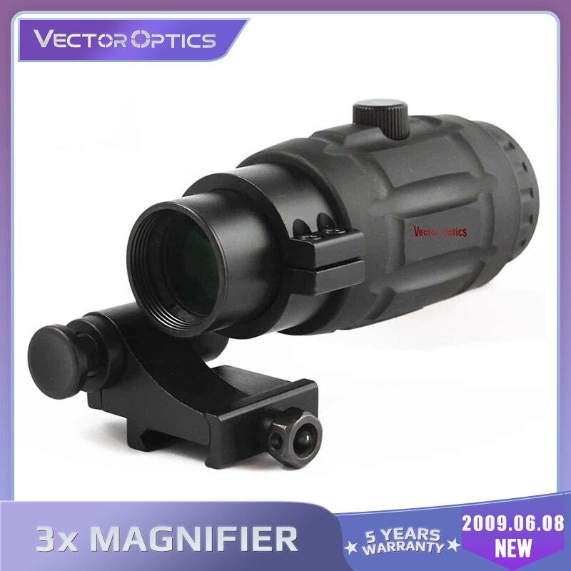 Vector Optics Tactical 3x Lupe Hohe Qualität Schnell Umfang mit Flip Zu Seite Montieren Fit Für Holographische Anblick