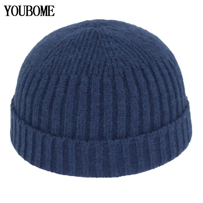 Skullies Beanies мужские зимние шапки для женщин Docker шапка Gorras Bonnet Miki Череп Мужская шерстяная вязаная шапка женская зимняя шапочка-бини шапка