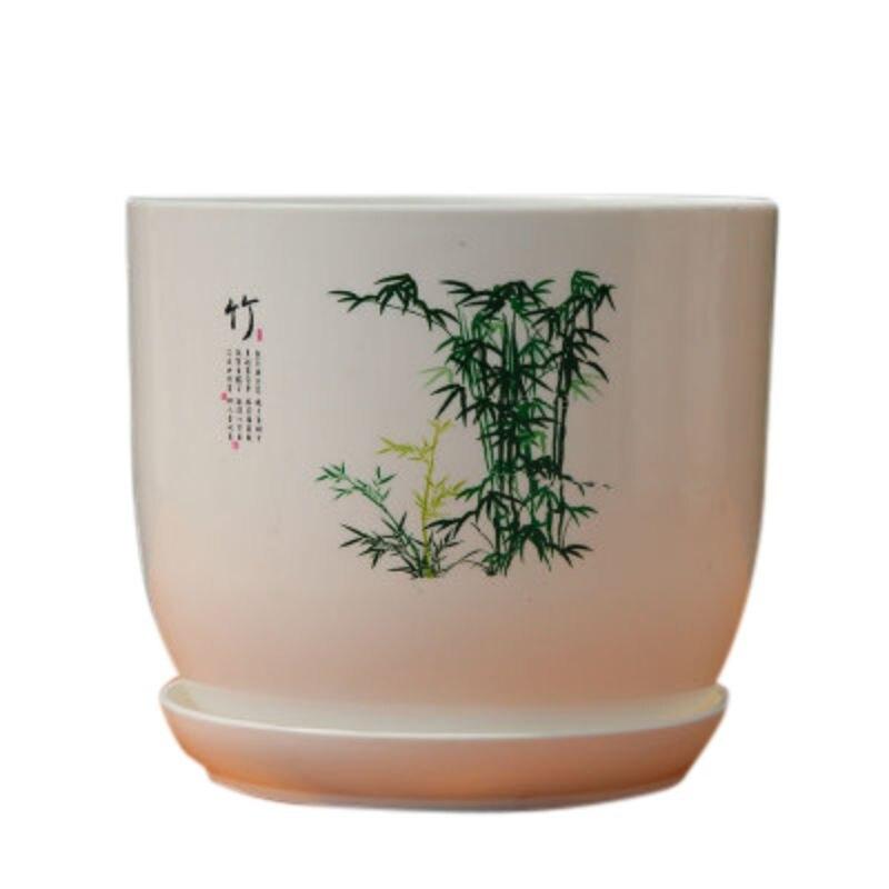 Полимерный цветочный горшок для кактусов вазон для суккулентов в китайском стиле горшки в стиле бонсай цветочный горшок с дренажным отверс...