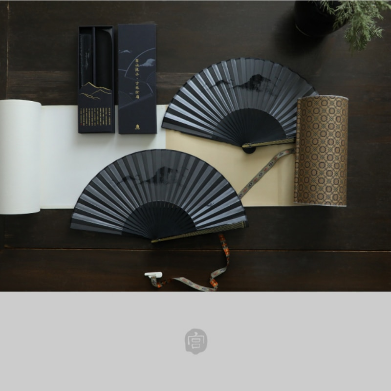 Chinese Style Bamboo Elegant Fan Summer Portable Vintage Personal Hand Fan Pocket Manual Folding Waaier Decoration Crafts AG50ZS enlarge
