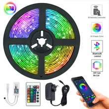 Strisce luminose a LED Controller WIFI Bluetooth flessibile RGB 5050 decorazione retroilluminazione lampada luce notturna stringa luminosa per camera da letto