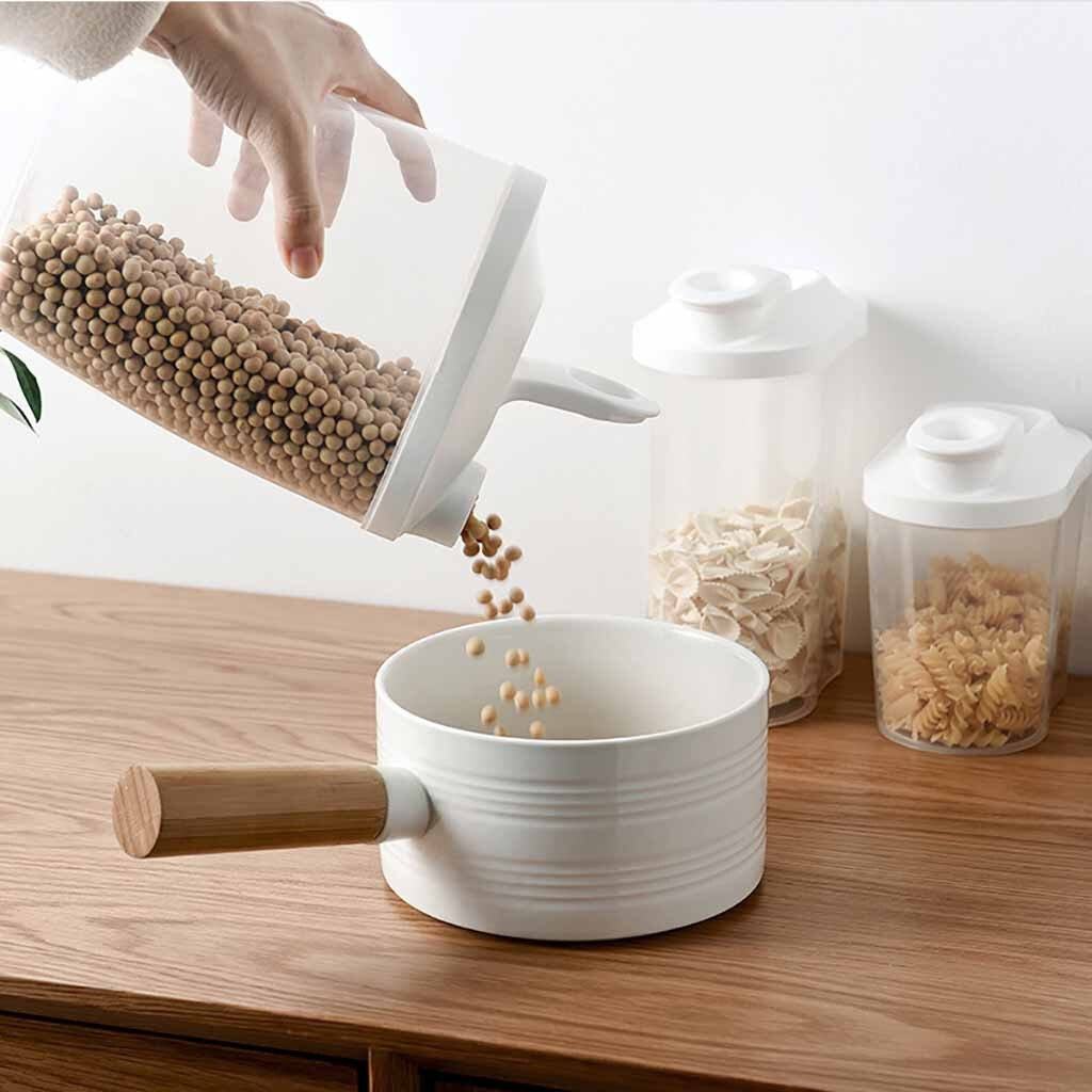 20*1 Pza caja de almacenamiento de alimentos contenedor transparente con tapas para cocina alimentos sellados Snacks fruta seca granos tanque de almacenamiento caja de Cereal