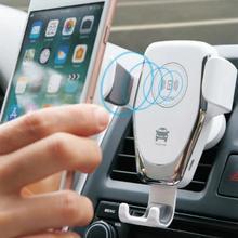 10W Auto Montieren Drahtlose Ladegerät für iPhone 11 Pro XS Max XR X 8 Schnell Qi Schnelle Lade Auto telefon Halter Für Samsung S10 S9