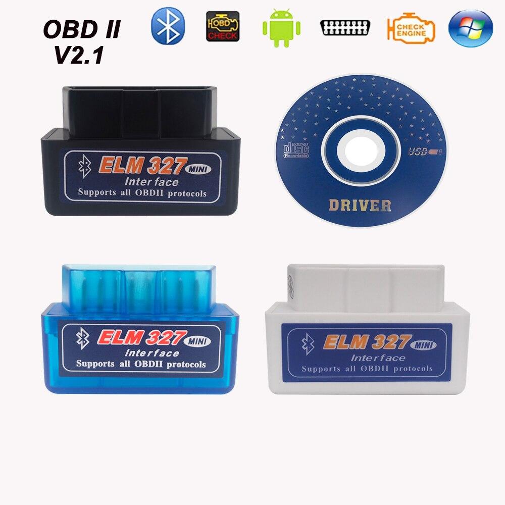 Mini elm327 v2.1 bluetooth odb 2 obdii ferramenta de diagnóstico do carro para citroen c3 c4 c5 2004/xsara picasso/c4 picasso/C-QUATRE/berlingo
